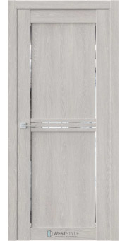 Межкомнатная дверь XC 2 Дуб Серый стекло