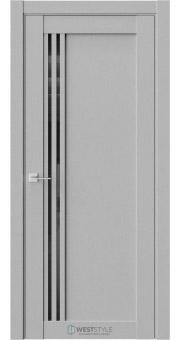 Межкомнатная дверь XC 4 Интенсо черное стекло