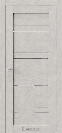 Межкомнатная дверь CZ 7 Бетон Смоки стекло-зеркало графит