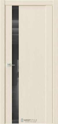 Межкомнатная дверь F 28 Дуб Монтана черное стекло