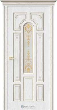 Межкомнатная дверь ГЕРЦОГ Дуб Винта стекло
