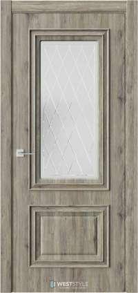 Межкомнатная дверь KB 4 Дуб Эссе стекло 2