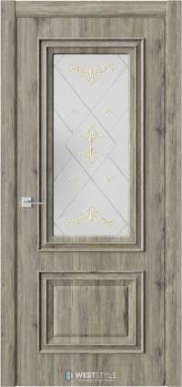 Межкомнатная дверь KB 4 Дуб Эссе стекло 4