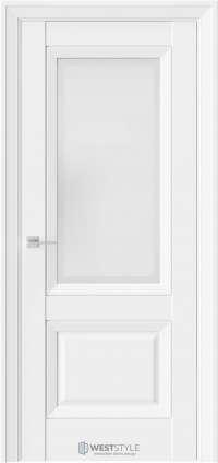 Межкомнатная дверь PL 4F Бежевая стекло 1
