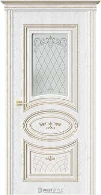 Межкомнатная дверь РАФАЭЛЛО Дуб Винта стекло