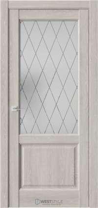 Межкомнатная дверь SE 4 Дуб Серый стекло 4
